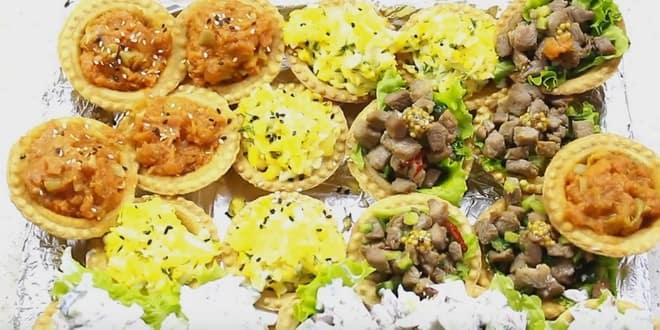 Лучшая закуска в тарталетках: рецепты с фото и видео!