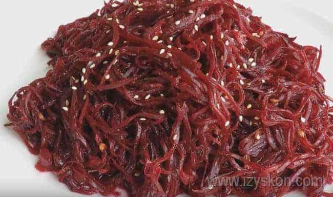 Приготовьте свеклу по-корейски по такому рецепту, это очень вкусно!