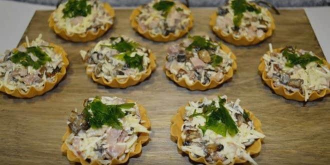 Как приготовить тарталетки с курицей и грибами по рецепту с фото