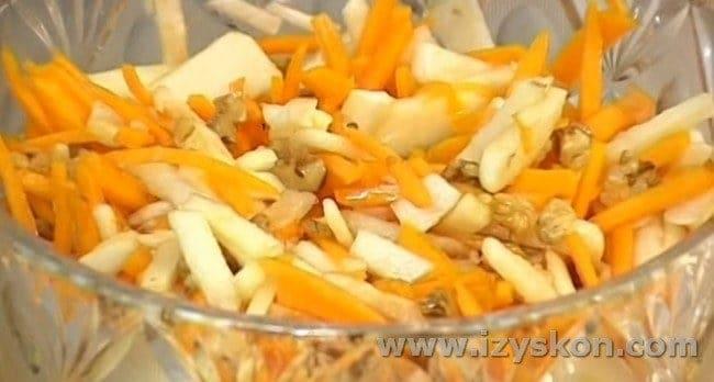 Такое блюдо можно приготовить из тыквы и яблок.