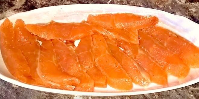Рецепт соленой горбуши под семгу с фото