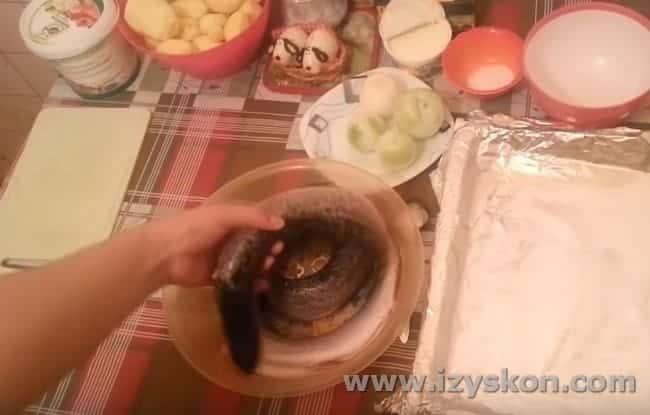 Для этого блюда можно взять несколько небольших щучек.
