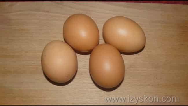 отварите яйца
