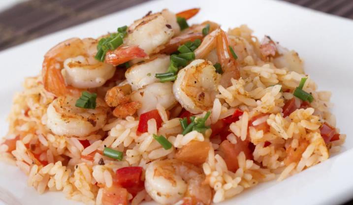 Рис с креветками и овощами — рецепт диетический